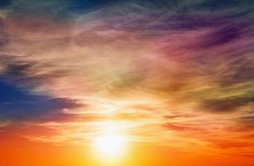 Fototapeta Wschód / zachód słońca Sunset sky and cloud.