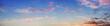 canvas print picture - Panoramaformat Abendhimmel mit rosa Wolken