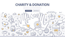 Charity & Donation Doodle Conc...