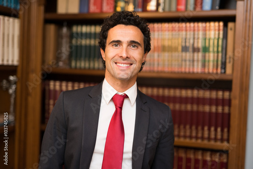 Lawyer portrait Fotobehang