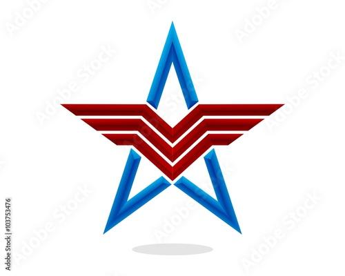 Patriot Star Wallpaper Mural
