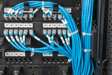 Many Blue Wire Of Network On Switching