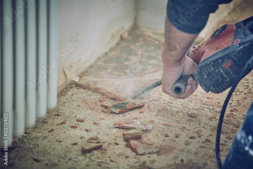 Muratore rompe toglie piastrelle con martello pneumatico u2013 kaufen