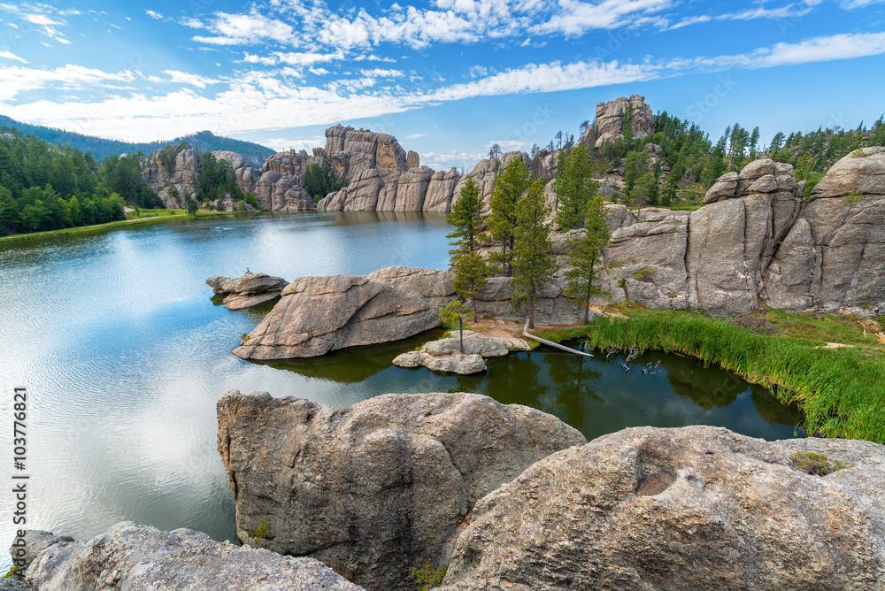 Fototapety, obrazy: Beautiful Sylvan Lake in Custer State Park