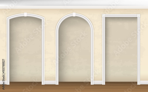 The arches of different shapes in the wall Slika na platnu