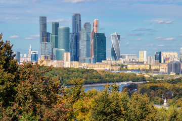 Fototapeta Moskwa Moscow city (Moscow International Business Center) Russia
