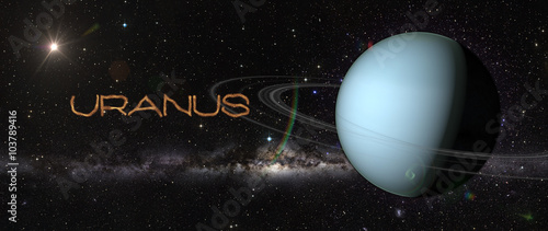 Planet Uranus in outer space. Wallpaper Mural