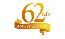 62 Ribbon Anniversary