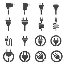 Plug Icon Vector Illustration