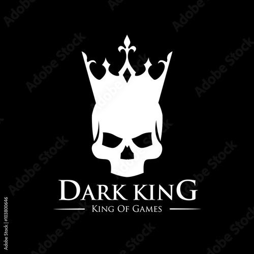 Dark King Logo Skull Logo Vector Logo Template Buy This Stock