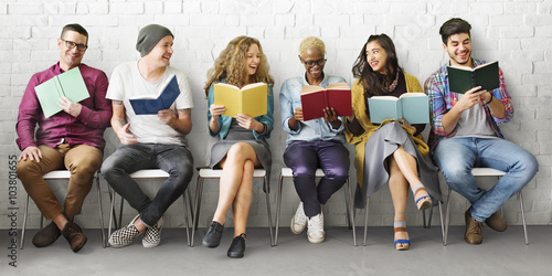 Fotografie, Obraz  Students Youth Adult Reading Education Knowledge Concept