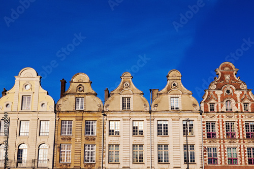 Architecture of Place des Heros in Arras Canvas Print