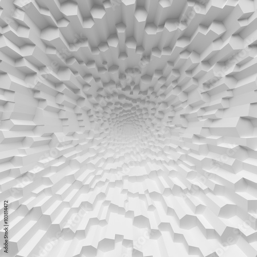 White geometric abstract polygons backdrop