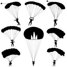 Set Skydiver, Silhouettes Para...