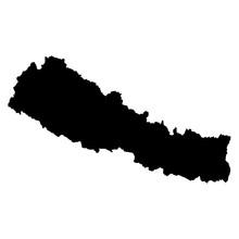 Nepal Map On White Background ...