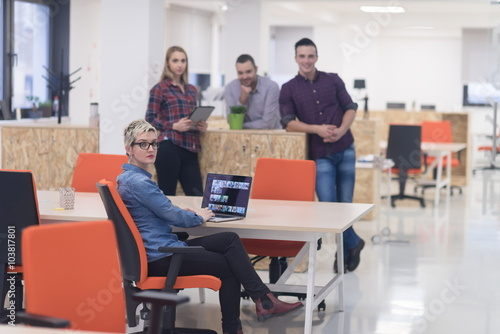Fototapety, obrazy: business people group portrait at modern office