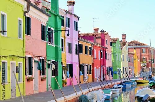 Fotografie, Obraz ブラーノ島の街並み