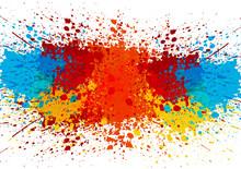 Abstract Splatter Color Backgr...
