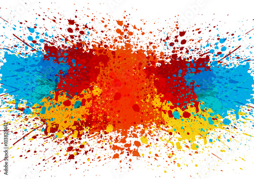 Poster Vormen abstract splatter color background. illustration vector design