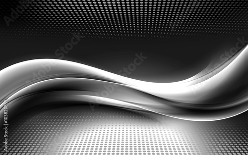 Trendy abstract raster waves background for design. Modern digital illustration.