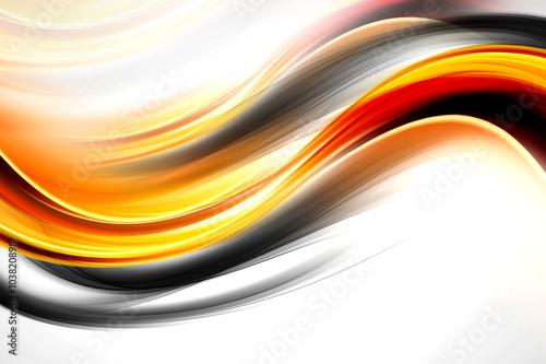 In de dag Fractal waves Orange Wave Design Background
