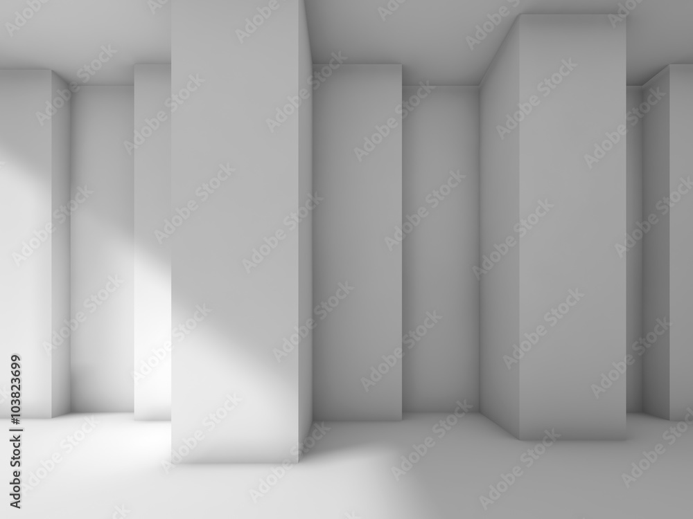 Fototapety, obrazy: Abstract modern interior design with corners, 3d