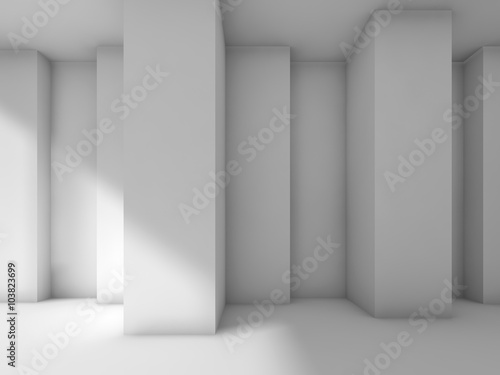 Fototapeta Abstract modern interior design with corners, 3d obraz