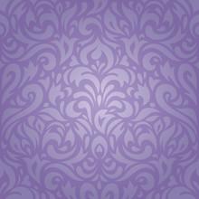 Floral Violet Vintage Pattern Decorative Wallpaper Background Design