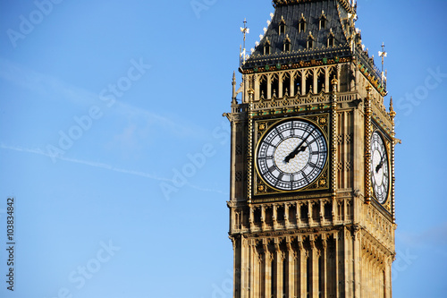Fotografia  The world famous international landmark Big Ben of the Houses Of Parliament in W
