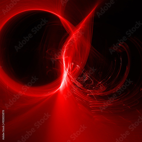 red glow energy wave  lighting effect abstract background