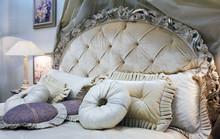 Luxury Interior.Antique Vintage Bed