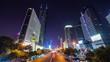 shenzhen night light center traffic street panorama 4k time lapse china