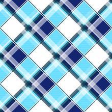Navy Blue Green White Diamond Chessboard Background Vector Illustration