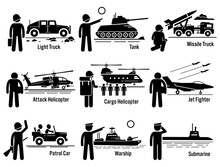 Military Vehicles Army Soldier Transportation Set