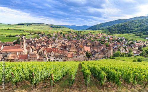 View of Riquewihr village in Alsace Wallpaper Mural