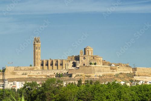 Panoramic view of Lerida (Spain)