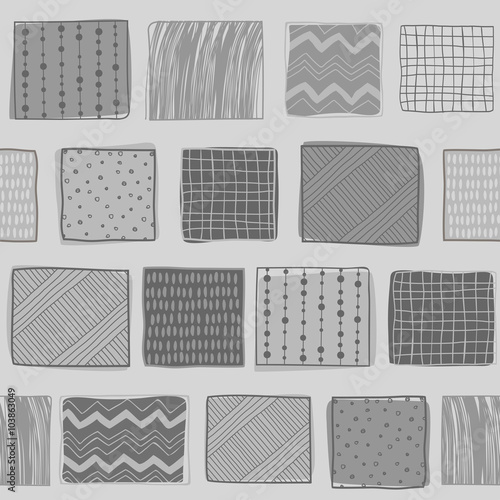 Fototapeta Seamless retro geometric pattern. It can be used for cloth, jackets, bags, notebooks, cards, envelopes, pads, blankets, furniture obraz na płótnie