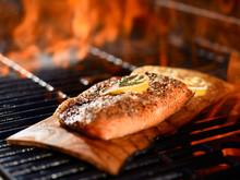 Seasoned Salmon Fillet Cooking...