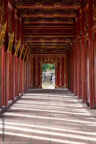 Photo  Walkway in Imperial Royal Palace of Nguyen dynasty in  Hue