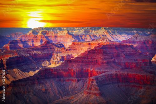 obraz PCV famous view of Grand Canyon , Arizona