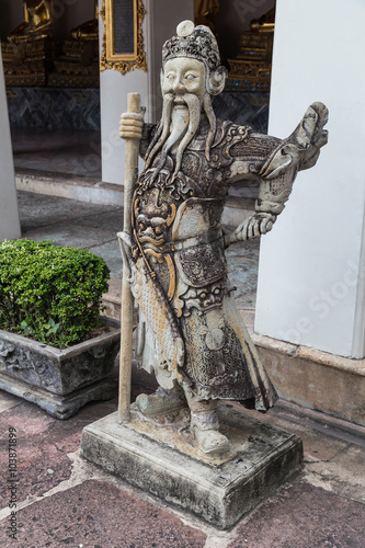 Photo  Statue at Wat Pho, Bangkok,  Thailand