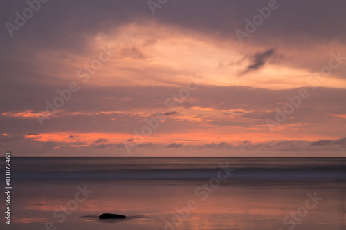 Foto  Sunset on Patong Beach, Phuket island,  Thailand