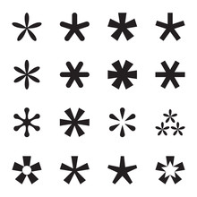 Asterisk (footnote, Star) Icon...