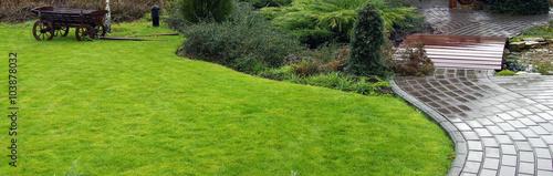 Papiers peints Jardin Garden landscape in spring
