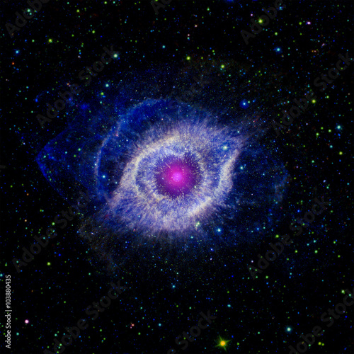 Poster Iris Stars nebula in space. Elements of this image furnished by NASA