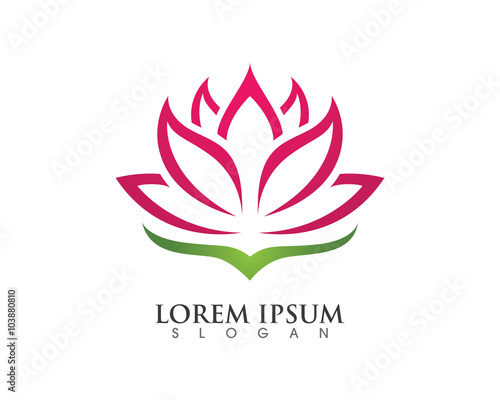 Photographie  Stylized lotus flower icon