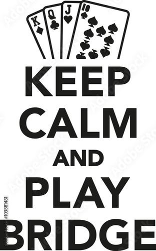 Cuadros en Lienzo  Keep calm and play bridge