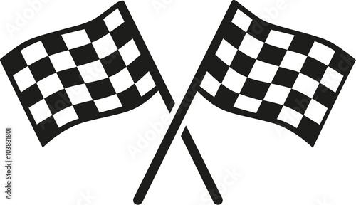Fototapeta Kartracing goal flags obraz