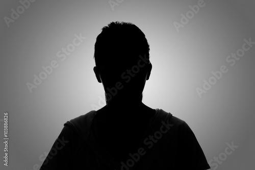 Fotomural  Retrato de la mujer de la silueta