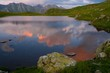 Lake sunset summer